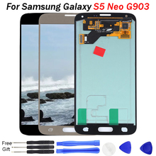 For Samsung S5 NEO LCD Super AMOLED Galaxy Touch Screen Digitizer G903M G903 G903F phone lcd screen