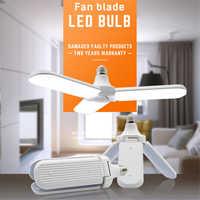E27 LED Light Bulb with 228 Leds Fan Blades Folding Light Support Radar Sensor Corridor LED Lamp Lampara for Outdoor Garage Shop
