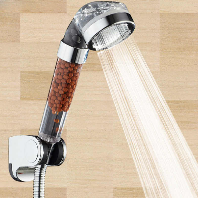 Shower Head Filter Pelunakan Air Shower Head Water Filter Pelembut untuk Kepala Pancuran Hemat Air Terapi SPA Shower