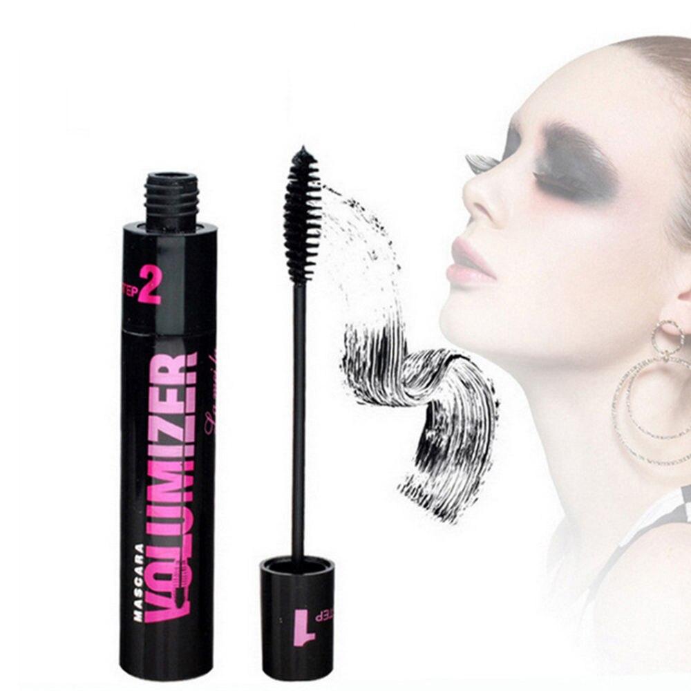 4D Double Effet imperméable à l'eau noir Mascara Fiber Extension de cils Curling beauté