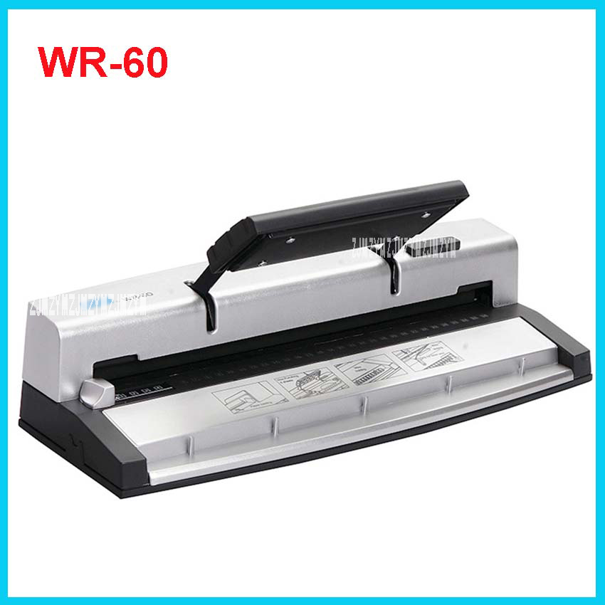 цена на Mini Wire Binding Machine WR-60 Manual A4 / letter paper Punches 45 sheets (6.4mm iron ) Office Manual Punch Binding Machine