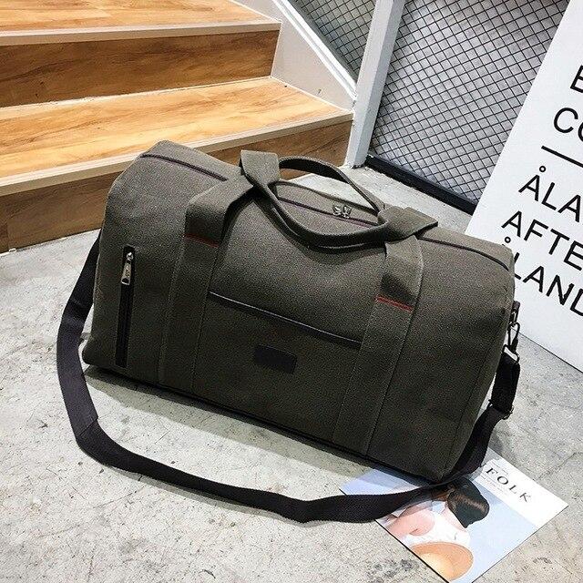 Fashion Canvas Luxury Men Women Travel Bag Suitcase Designer 57cm High  Quality Airport Handbags Trip Bags bdab41ec22