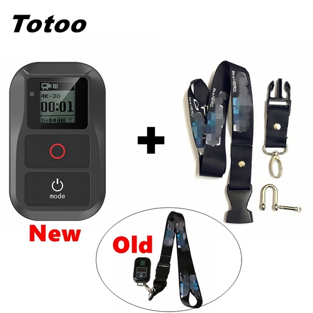 New Hero 8 Camera Neck Lanyard With Release Buckle+WIFI Smart Remote For GoPro Max Go Pro 8 7 Black 6 5 4 Session Accessories