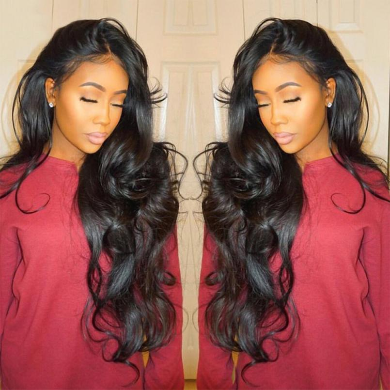 все цены на Fashion Curly Wig Glueless Full Lace Wigs Black Women Indian Remy Human Hair Lace Front Women Party Wigs For Black Women a17