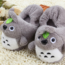 Totoro Slippers Plush Totoro  Home Warm Slippers For Women Slippers Winter House Shoes