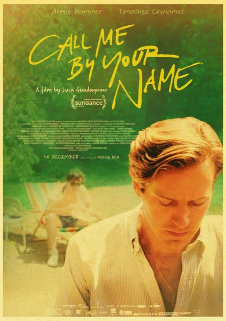 Online Shop Call Me By Your Name Movie Poster Kraft Paper Print