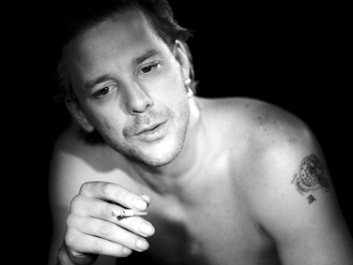 D1095 Mickey Rourke Smoking Young Actor Hot BW-Print Silk Art Wall Poster image