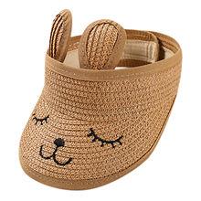 1-7 Years Old Children Cute Straw Boater Hat Festival Summer Sun Beach Hat  MAR3 578c98daa9db