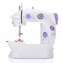 Useful Mini Handheld Sewing Machines Dual Speed Double Thread Multifunction Electric Automatic Tread Rewind Machine