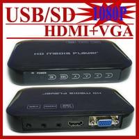 HD601 Mini 3D 1080p Full HD Ultra Portable Digital Media Player HDMI VGA CVBS SD USB DIVX MKV H.264 RMVB WMV MP3 Flac Ape