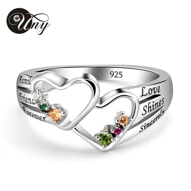 rings gift zirconia diy cubic box silver silveren ring love family mothers infinity item colorful free personalized jewelry sterling