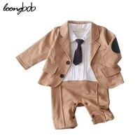 Baby Boy Clothing Set 2015 New Party Formal Suit 2pcs Fashion Jacket Long Sleeve Romper Wedding
