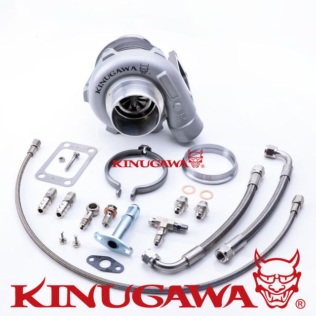 "Kinugawa Ball Bearing Billet Turbocharger 3"" GTX2863R 53.9 mm w/ .73 T3 V-Band External"