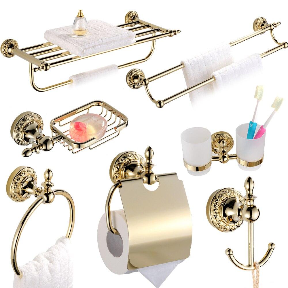 Accessori Bagno Ottone Oro.Antico In Ottone Massiccio Bagno Oro Hardware Set