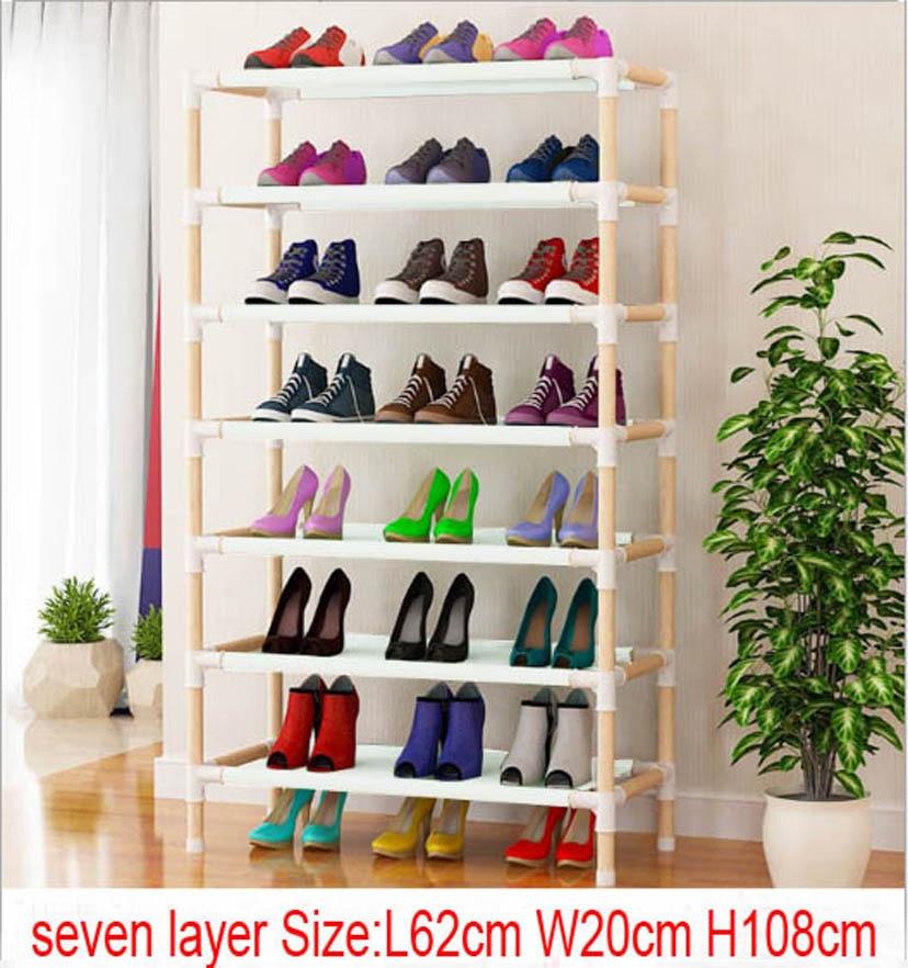 10pcs seven layer wooden shoe rack  62cm x 20cm x 108cm 10pcs seven layer wooden shoe rack  62cm x 20cm x 108cm