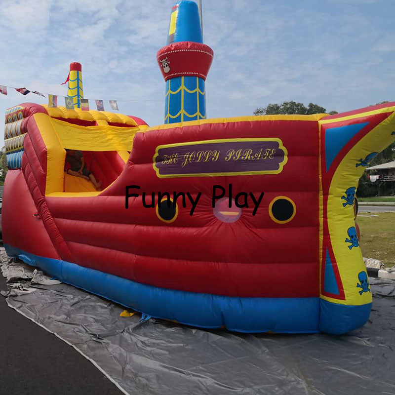 Inflatable Pirate Ship,Jumping Castle For Kids Play,Inflatable Bouncer Combo for playground trampoline, inflatable fun city