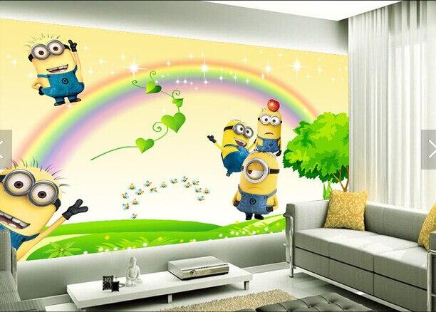 Behang Kinderkamer Regenboog : Aangepaste animatie behang kleine geel mensen regenboog cartoon