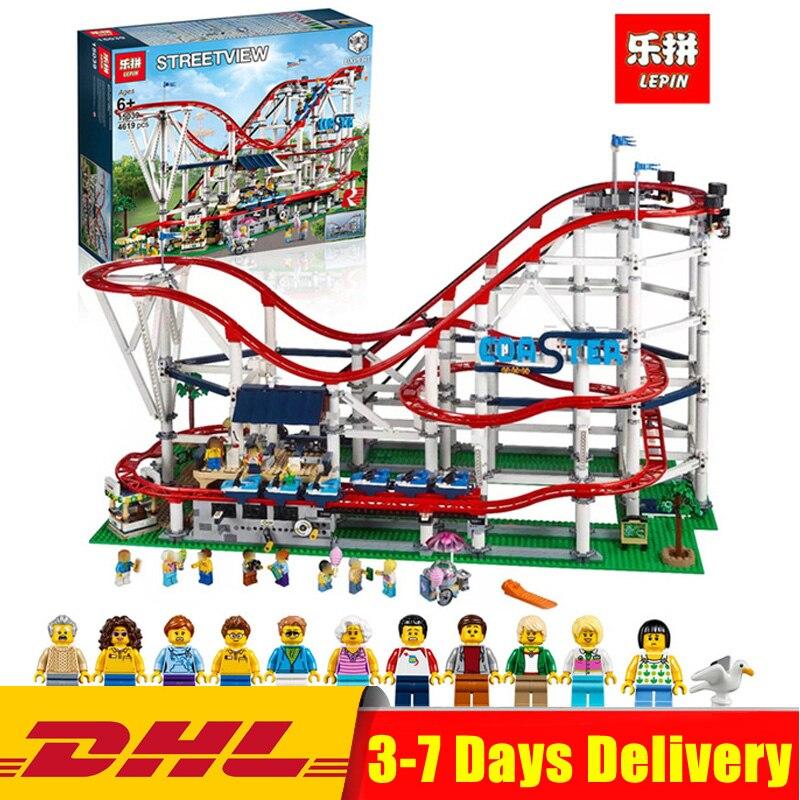 Moc Legoingly 10261 Lepin 15039 4619 pcs Bâtiment Le Roller Coaster Ensemble Buidling Blocs Briques Nouveau Enfants Jouets Jouet Cadeau modèle