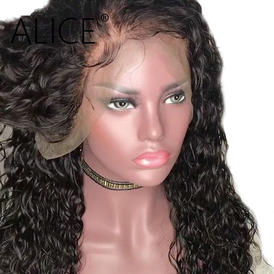 Alice Curly Lace Front Human Hair Wigs With Baby Hair Pre Plucked Brazilian Remy Lace Front Wigs For Women Glueless Wigs 13x4 Human Hair Lace Wigs