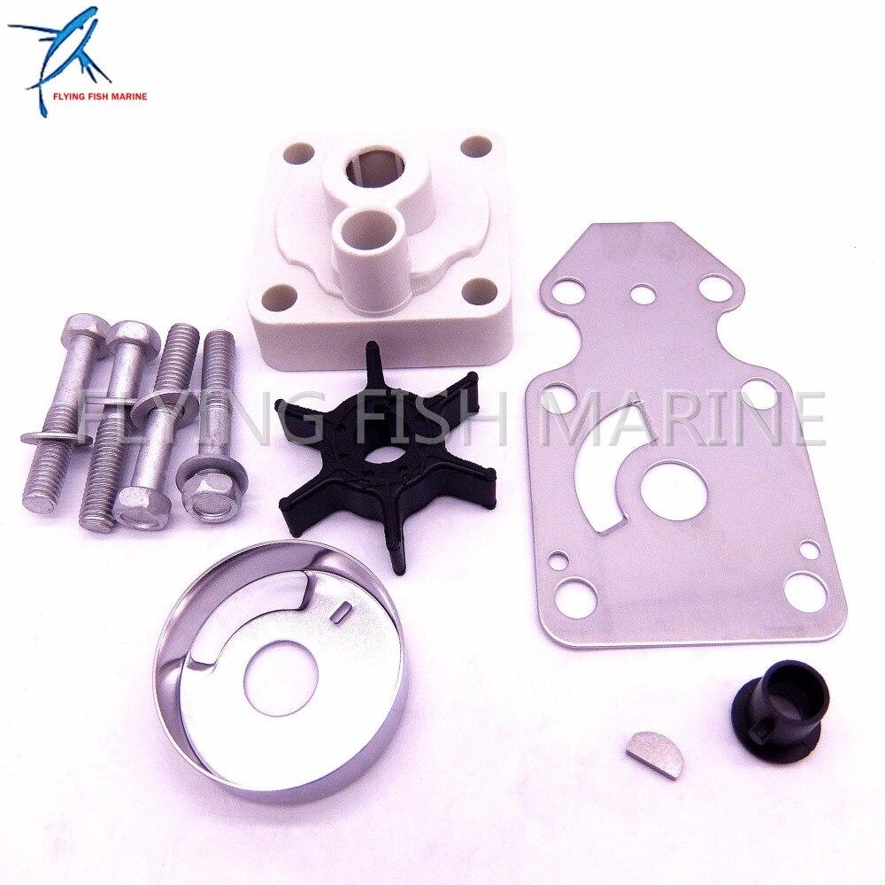 63V-W0078-00 Water Pump Impeller Repair Kit for Yamaha F15 15hp 4-stroke Outboard Motors