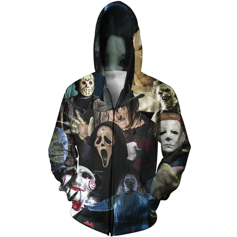 Walking Dead Christmas Sweater.Us 25 8 39 Off Funny Walking Dead Christmas 3d Print Zipper Hoodies Sweatshirts Men Graphics Jackets Winter Casual Harajuku Hooded In Hoodies