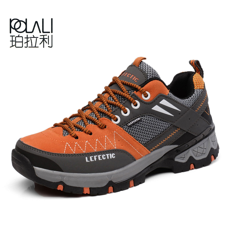 f5874a4db2918 POLALI 2017 New Anti-Slippery Men Hiking Shoes Outdoor Climbing Mountain  Hunting Trekking Fishing Brand