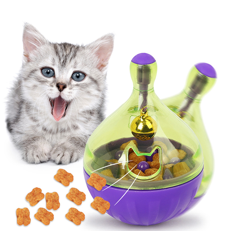 YVYOO  Interactive Cat Toy IQ Treat Ball Smarter Pet Toys Food Ball Food Dispenser For Cats Playing Training Pet supplies D10 Игрушки для кошек