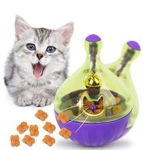 YVYOO التفاعلية القط لعبة الذكاء علاج الكرة أذكى الحيوانات الأليفة اللعب الغذاء الكرة الغذاء موزع للقطط اللعب التدريب مستلزمات الحيوانات الأليفة D10