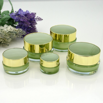 New Empty Acrylic Cream Jar 5g 10g Cosmetic Make Up Face Snail Cream Eyes Serum Mask Nail Polish Containers Wholesale 100pcs/lot