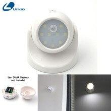 Светодиодный Ночной Настенный светильник с датчиком движения, 9 светодиодов, вращение на 360 градусов, ИК инфракрасный детектор, детский ночной Светильник