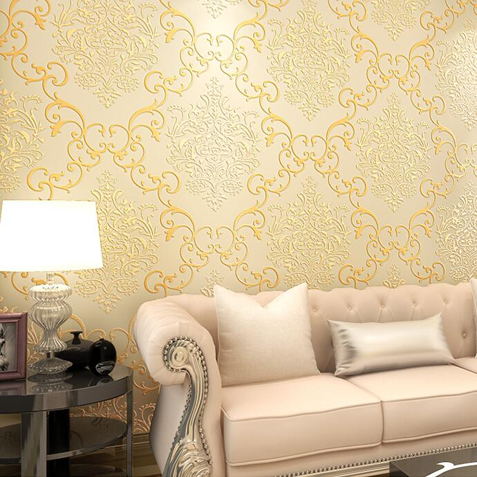 ФОТО New fashion non-woven wallpaper 3d damask tv background wall wallpaper for malaysia wallpaper