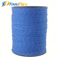 1000 Feet Spools Reflective Paracord 7 Strand Parachute for Outdoor Campling Tent Wind Rope DHL Free Wholesale Paracord