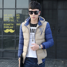Winter Youth Men Down padded cotton jacket men's thick winter Korean version fashion A006