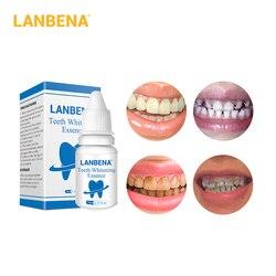 LANBENA الأسنان تبييض جوهر مسحوق تنظيف سيرم تفتيح البشرة يزيل البلاك البقع الأسنان تبيض أدوات طبيب الأسنان معجون الأسنان