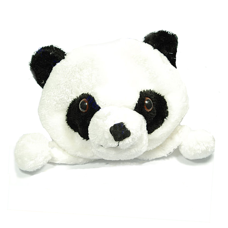 Cartoon Animal Panda Cute Earmuff Fluffy Plush Hat Cap Hat Plush   Beanie   Fleece Winter Warm