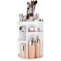 360 Degree Rotation Makeup Organizer Adjustable Countertop Cosmetic Storage Box Display Large Capacity 7 Layers for makeups