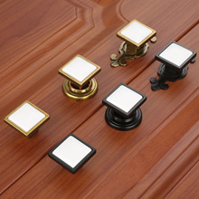 DRELD 1pc Furniture Handle poignee meuble Cabinet Knobs and Handles Door Cupboard Drawer Kitchen Pull Handles Furniture Fittings dreld 1pc round furniture handles ceramic cabinet knobs and handles door cupboard drawer kitchen pull handles furniture hardware page 6