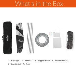 Image 2 - Godox 95cm 120cm 140cm stüdyo sekizgen petek izgara Softbox reflektör softbox Bowens dağı stüdyo flaş ışığı için flaş ışığı