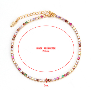 Evil Eye Anklet Feet Bracelet Gold Color Leg Ankle Chain for Women Colorful Micro Pave Zircon Summer Fashion foot Jewelry EY6317 2