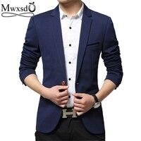 Mwxsd Brand Men S Casual Slim Fit Single Button T Suit Blazer Jacket Men Wedding Blazer