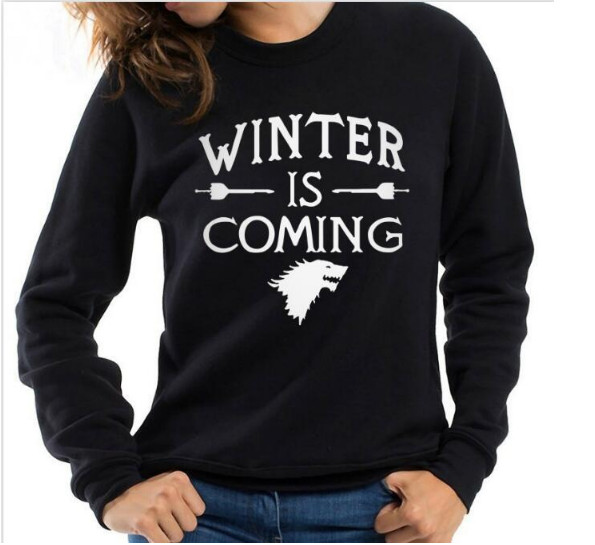 f5081a82 WINTER IS COMING Sweatshirt Women MEN Fashion Long Sleeve loose TUMBLR  Sweatshirt crewneck Cotton Outfits Tops shirts Hoodies