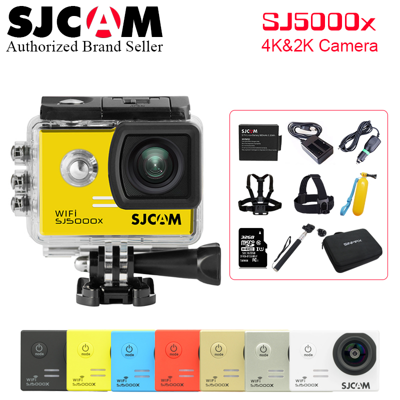 цена на Many Accessories Send !Original SJCAM SJ5000X Elite WiFi 4K 24fps 2K 30fps Gyro Sports Action Camera Waterproof Helmet Sports DV