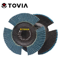 TOVIA 5pcs Vision Flap Disc 40/60/80/120 Grit Sanding Disc 115mm Zircon Flap Disc Grinding Wheel 115mm Abrasive Tools