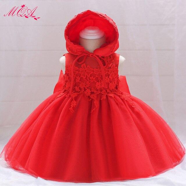 5fd6ed481f ... niña bautizo de verano Bow 1 cumpleaños trajes bautismo fiesta vestidos  novia. MQATZ Red Tulle Newborn Gown Baby Girl Christening Dress Summer Bow  1 ...