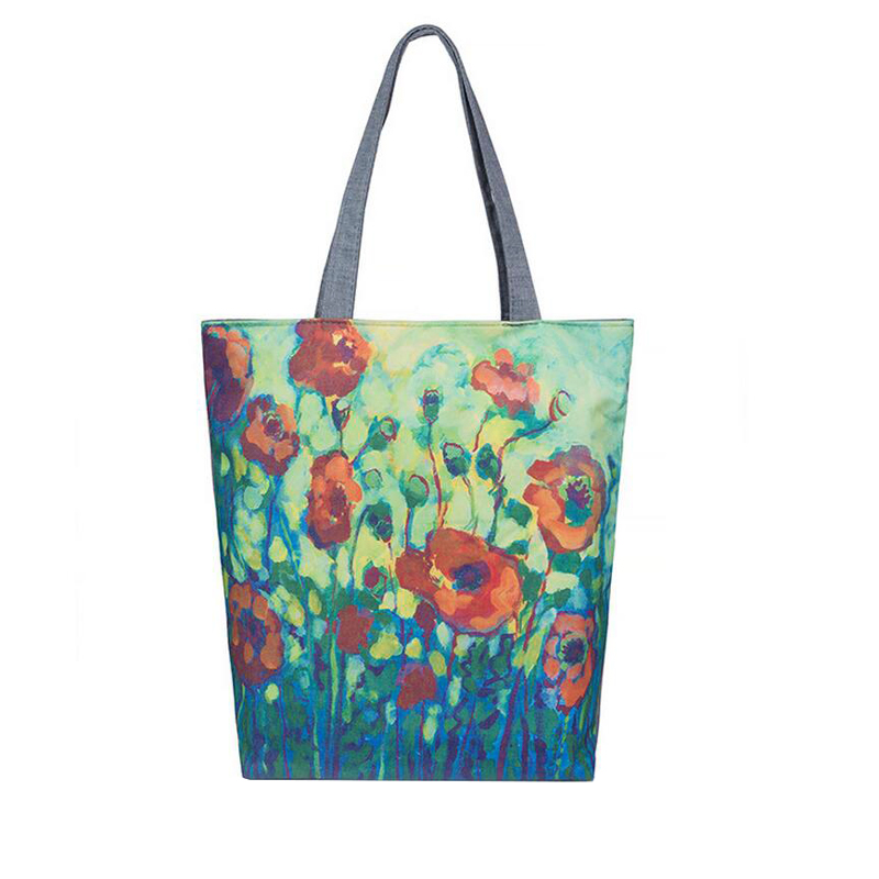 Floral and Owl Printed Canvas Tote Female Single Shopping Bags Large Capacity Women Canvas Beach Bags Casual Tote Feminina floral printed canvas tote female single shopping bags large capacity women canvas beach bags casual tote feminina