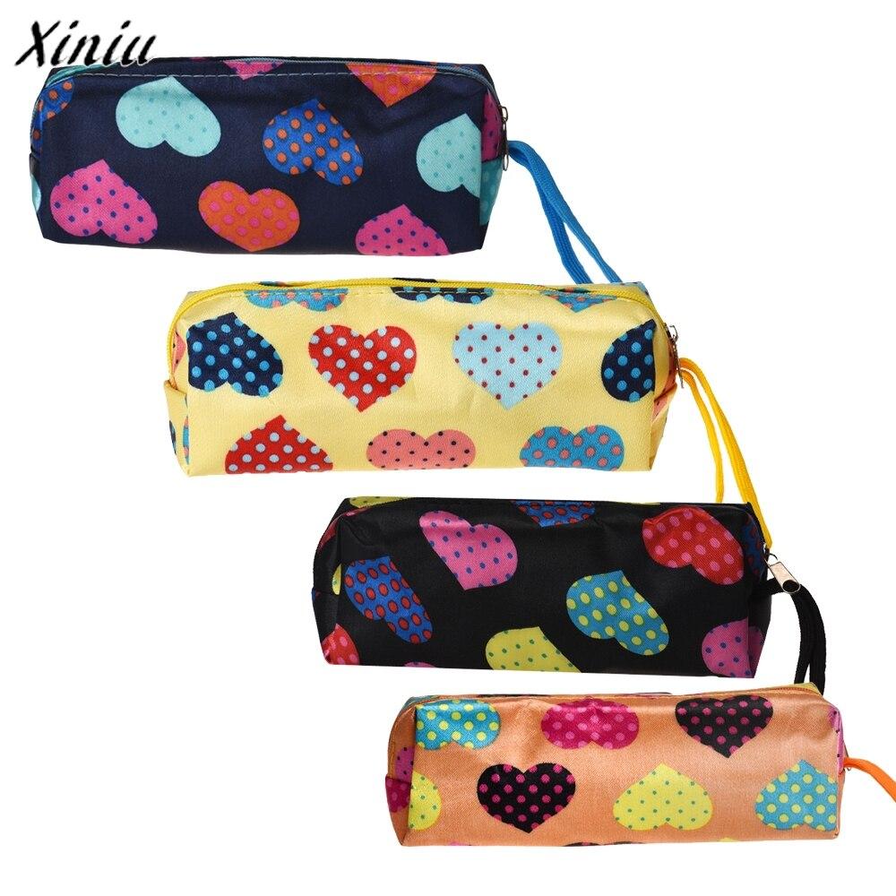 Blusas 2017 Fashion Women Toiletry Bag Zipper Makeup Case Heart Portable Casual Travel Organizer Cosmetic Bags Clutch Pouch