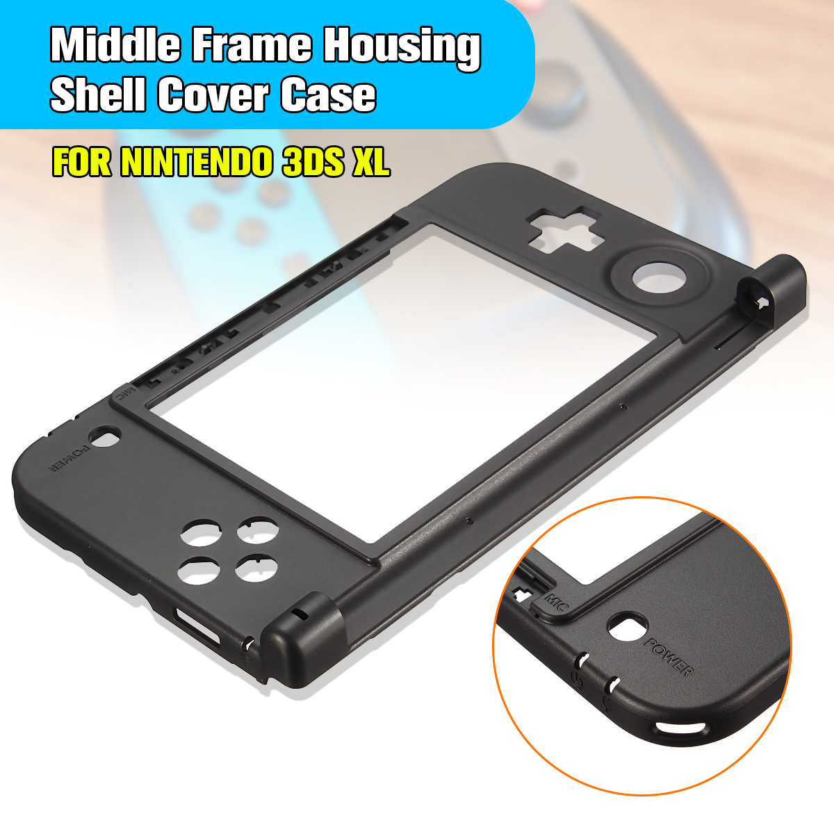 Housing Shell Cover Case Original Bund Middle Frame Replacement Kit Konsol Cover til Nintendo til 3DS XL / LL Game Console