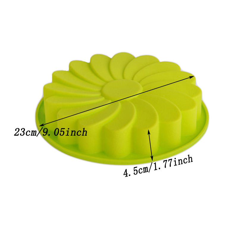 Baycheer Flower Silicone Bread Cake Pan For Brownies Cookies Mousse Molds
