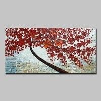 Mintura pinturas a óleo parede imagens para sala de estar flores que crescem em árvores arte pintados à mão morden plantas desenhar sem moldura