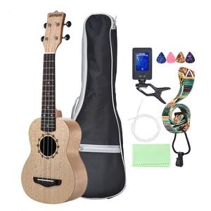 "Image 4 - Ammoon série ululele 21 ""ukulele conjunto 15 traste 4 cordas cordas instrumento musical 19 estilos ukulele"